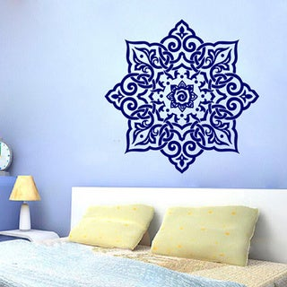 Floral Mandala Sticker Vinyl Wall Art