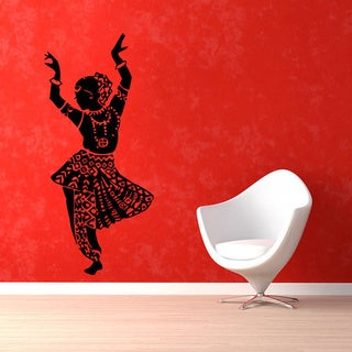 Dancing Indian Woman Sticker Vinyl Wall Art