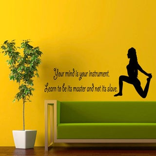 Yoga Inspirational Quote Sticker Vinyl Wall Art