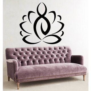 Yoga Lotus Flower Sticker Vinyl Wall Art