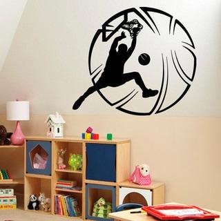 Hoop Basketball Player Sticker Vinyl Wall Art