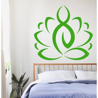 Yoga Lotus Flower Sticker Vinyl Wall Art