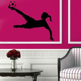 Soccer Girl Sticker Vinyl Wall Art