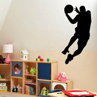 Basketball Player Dunk Sticker Vinyl Wall Art