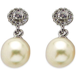 Kabella Sterling Silver Freshwater Pearl Earrings - White