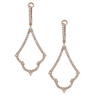 14k Rose Gold 4/5ct TDW Diamond Dangle Earrings (H-I, SI1-SI2)