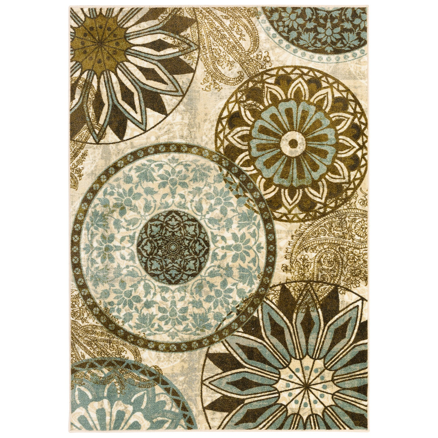 MOHAWK Home New Wave Inspired India Light Multi (7'6 x 10...