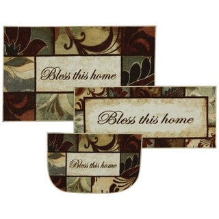"Mohawk New Wave Rules To Live By Area Rug Set (1'8 x 3'9, 2'6 x 4', 1'8 x 2'6 Slice) - 2'6"" x 4' Set"