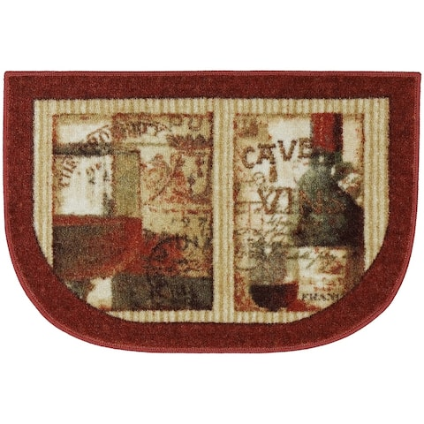 """Mohawk New Wave French Cellar Area Rug (1'8 x 2'6 Slice) - 1'8"""" x 2'6"""""""