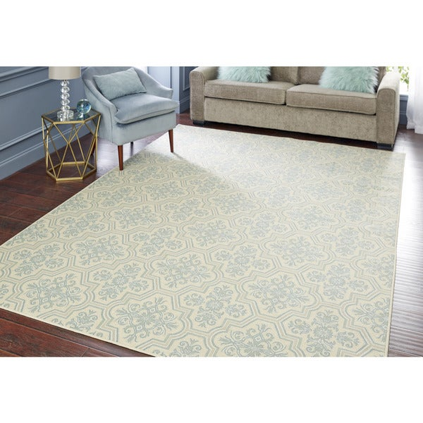 Mohawk Home Woodbridge Modesto Blue Area Rug (7'6 x 10')