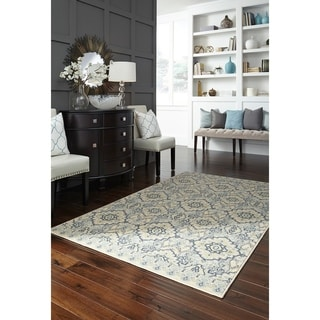 "Mohawk Home Woodbridge Santa Ana Aqua Area Rug (7'6"" x 10')"