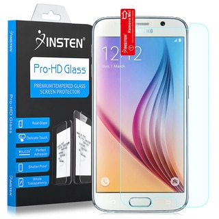 Insten Clear Tempered Glass Screen Protector For Samsung Galaxy S6 SM-G920