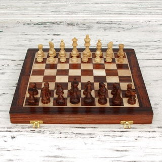 Seesham Wood 'Challenge of the Intellect' Chess Set (India)