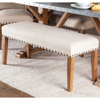 "Furniture of America Aralla Upholstered Dining Bench - 44""W X 16""D X 19""H"