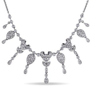Miadora Signature Collection 14k White Gold 3/4ct TDW Diamond Necklace