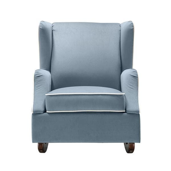 Strange Shop Baby Relax Hudson Baltic Blue Wingback Rocker Free Bralicious Painted Fabric Chair Ideas Braliciousco