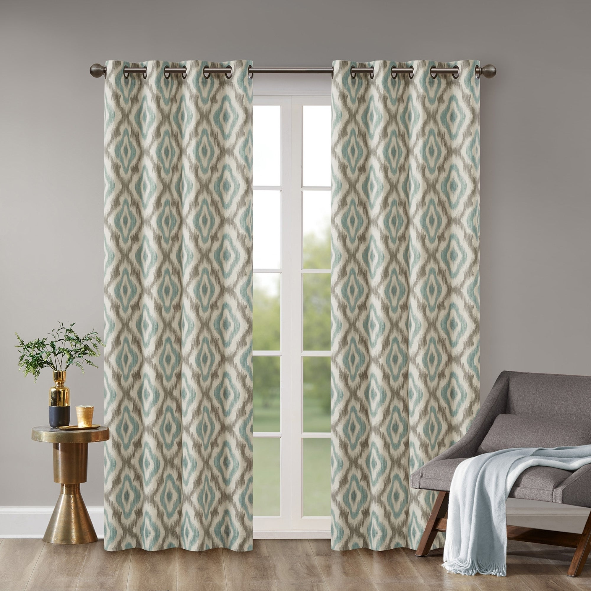 Buy 108 Inches Geometric Curtains Drapes Online At Overstock
