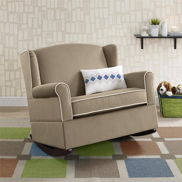 Shop Baby Relax Lainey Taupe Wingback Chair And A Half