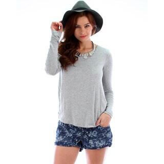 Lyss Loo Women's Back Twist Long Sleeve Top|https://ak1.ostkcdn.com/images/products/10074346/P17218041.jpg?_ostk_perf_=percv&impolicy=medium