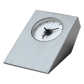 Visol Tracker Brushed Nickel Desk Clock