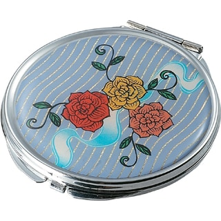 Visol Bouquet Stainless Steel Compact Mirror