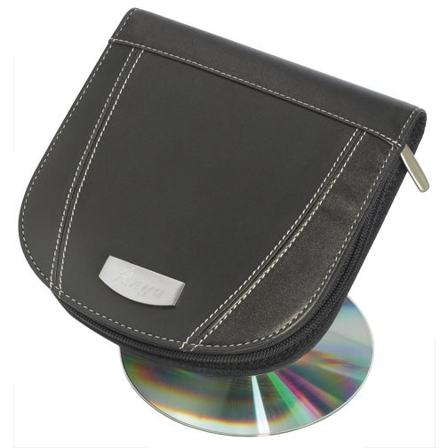 Visol Roadtrip Black Synthetic Leather CD/ DVD Case