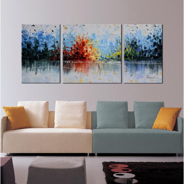 Hand Painted U0026#x27;Cheerful Melodyu0026#x27; 3 Piece Gallery
