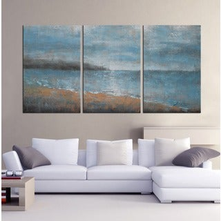 Hand Painted U0027Stay With Youu0027 3 Piece Gallery Wrapped Oil On