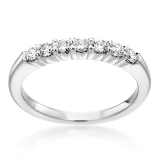 SummerRose 14k White Gold 1/3ct TDW Diamond Anniversary Band