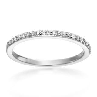 SummerRose 14k White Gold 1/6ct TDW Pave Diamond Band ( H-I, SI1-SI2)