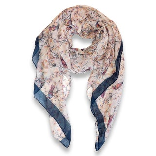 Link to Pretty Vintage Floral Blossom Hummingbird Print Scarf Similar Items in Scarves & Wraps