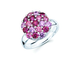 Lotopia Pink and Red Swarovski Zirconia Sphere Ring