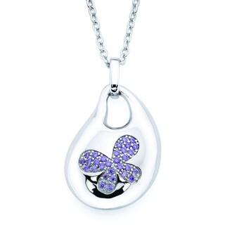 Lotopia Purple Swarovski Zirconia Bold Butterfly Pendant