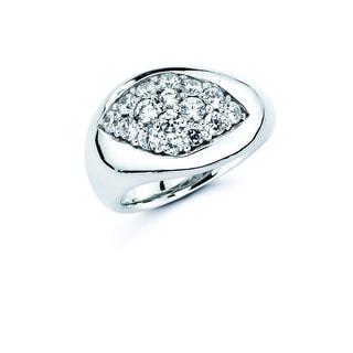 Lotopia White Ice Swarovski Zirconia Love Marquise Ring