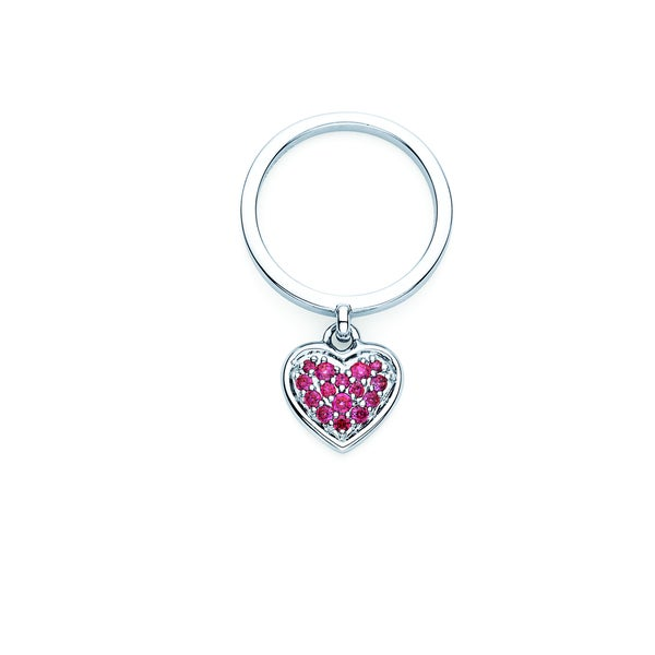 12fdbbb15 Shop Lotopia 925 Sterling Silver Red Swarovski Zirconia Heart Charm Ring -  On Sale - Free Shipping On Orders Over $45 - Overstock - 10074639