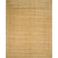 Handmade Wool Beige Traditional Tribal Lori Baft Rug - 5' x 8'