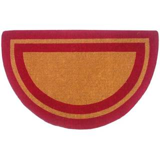 Heavy Duty Half Round Single Picture Frame Doormat in Persimmon