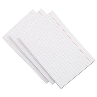 Universal Ruled Index Cards 4 x 6 White (Pack of 4)