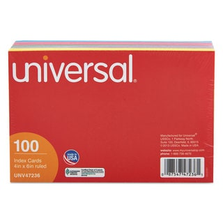 Universal Assorted Index Cards (8 Packs of 100)
