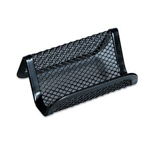 Universal One Black Mesh Metal Business Card Holder (Pack of 20)