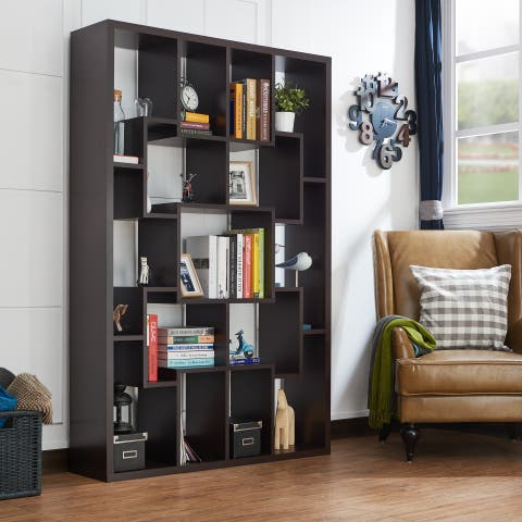 Krysten Contemporary Walnut Bookcase by FOA