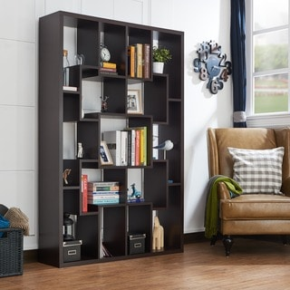 Furniture of America Krysten Contemporary Walnut Bookcase/Display Shelf