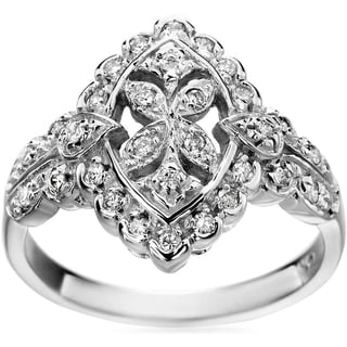SummerRose 14k White Gold Vintage 1/3ct. TDW Diamond Ring