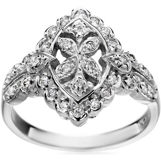 SummerRose 14k White Gold Vintage 1/3ct. TDW Diamond Ring