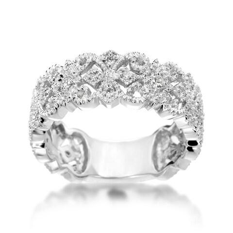 SummerRose Vintage 14k White Gold 1/ 4ct TDW Diamond Ring