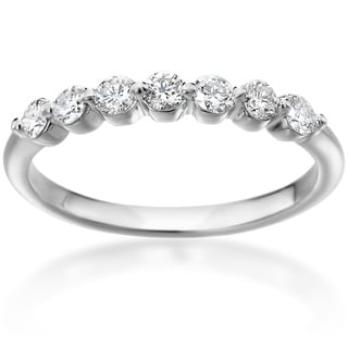 SummerRose 14k White Gold Shared Prong 1/3ct. TDW Diamond Ring ( H-I, SI1-SI2)