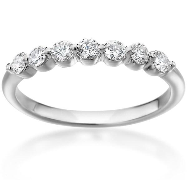 SummerRose 14k White Gold Shared Prong 1/3ct. TDW Diamond Ring