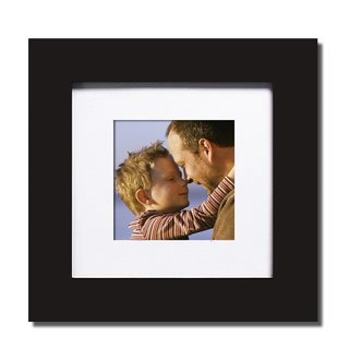 Adeco Decorative Black Wood Wall Hanging Picture Photo Frame with Mat