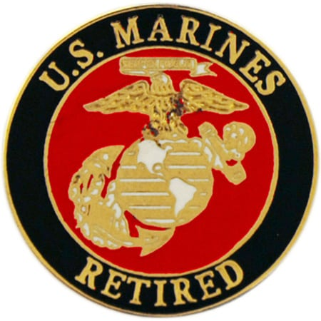 Shop United States Marine Corps Logo Retired Pin On Sale
