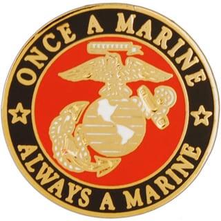 USMC Once A Marine Always A Marine Pin
